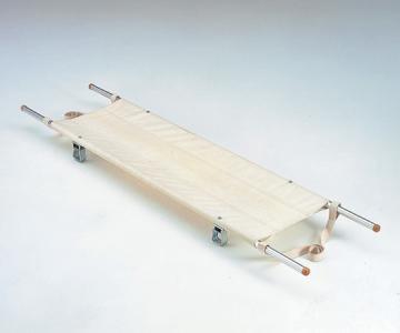 二ツ折担架(把手伸縮式)スチール製