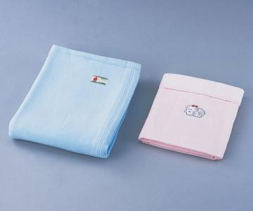 防炎綿毛布 サックス/ピンク