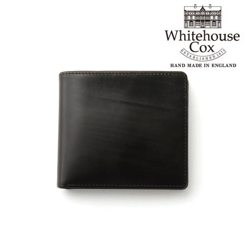 ホワイトハウスコックス 本革 二つ折り財布 S7532 ブラック 黒 ブランド化粧箱 ギフト包装 ブライドルレザー カード コインケース付き 財布 サイフ レザー メンズ 彼氏 ユニセックス 誕生日 プレゼント 英国御三家