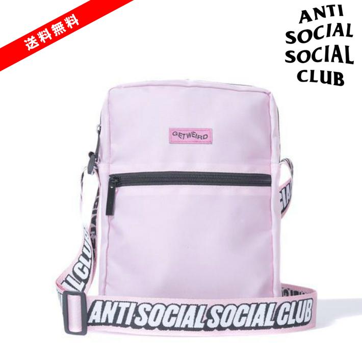 【公式正規品】ASSC Black Side Bag Shoulder Bag /ANTI SOCIAL SOCIAL CLUB バッグ アンチソーシャルソーシャルクラブ ショルダー バッグ Pink / ピンク 桃色 ASSC ANTI SOCIAL SOCIAL CLUB