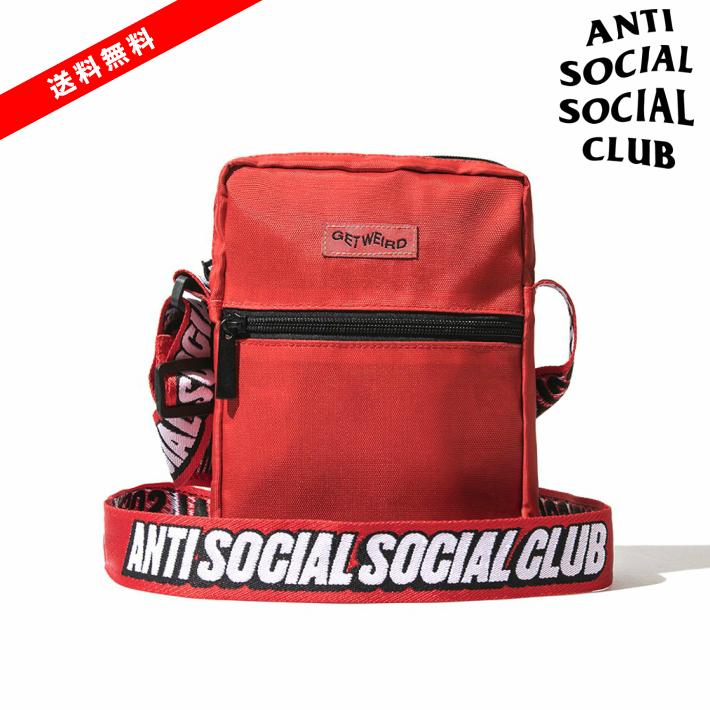【公式正規品】ASSC Black Side Bag Shoulder Bag /ANTI SOCIAL SOCIAL CLUB バッグ アンチソーシャルソーシャルクラブ ショルダーバッグ ポーチ バッグ Red / レッド 赤 ASSC ANTI SOCIAL SOCIAL CLUB