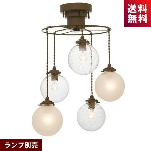 (5月中旬入荷予定)インターフォルム LT-3533 ペンダントライト オレリア5 ランプ別売