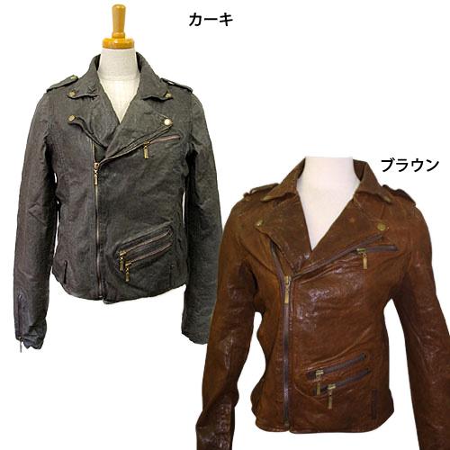 【大好評】ウォッシュ レザージャケット ライダースジャケット レディース ライダース