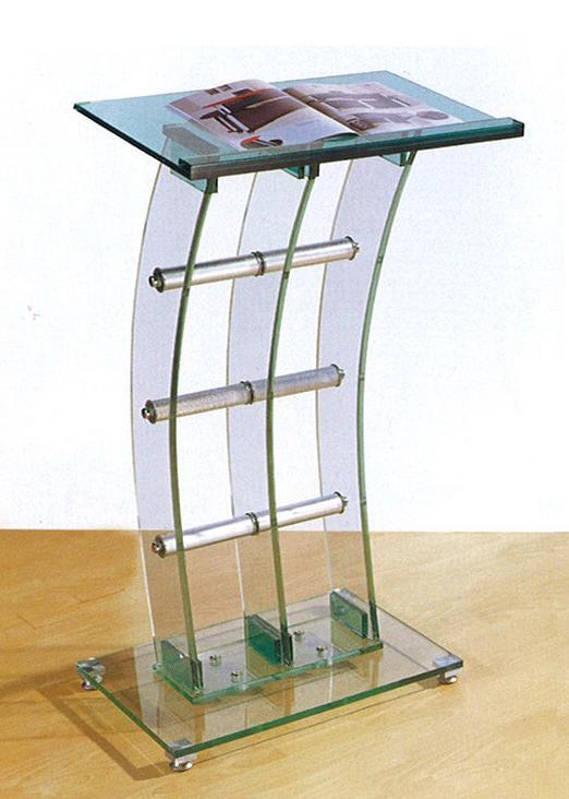 【輸入家具】ガラス製講演台・演台・司会台fh-61