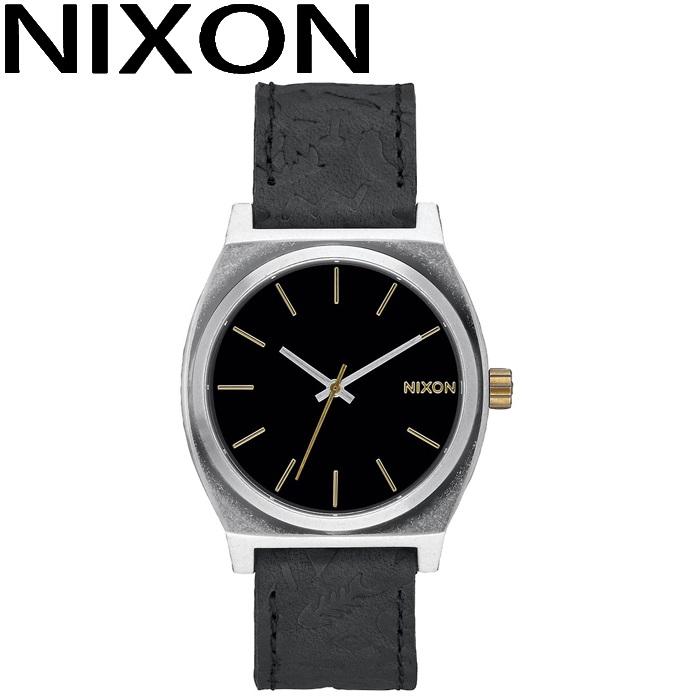 ニクソン NIXON タイムテラー時計 腕時計 メンズ レディース ユニセックスブラック レザー A045-2222