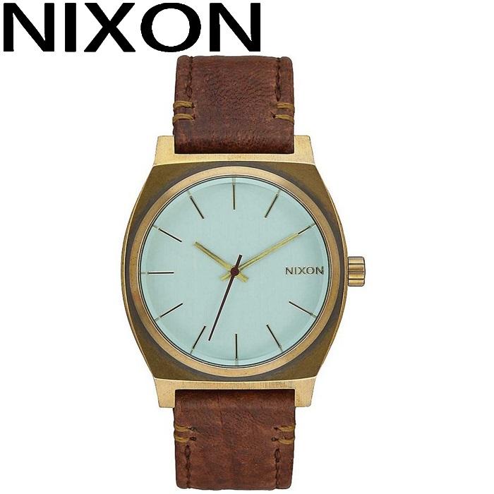 ニクソン NIXON タイムテラー時計 腕時計 メンズ レディース ユニセックスグリーン ブラウン レザー A045-2223