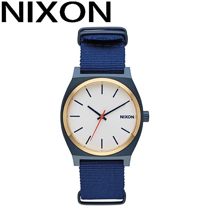ニクソン NIXON タイムテラー時計 腕時計 メンズ レディース ユニセックスブルー ナイロンストラップ A045-2452