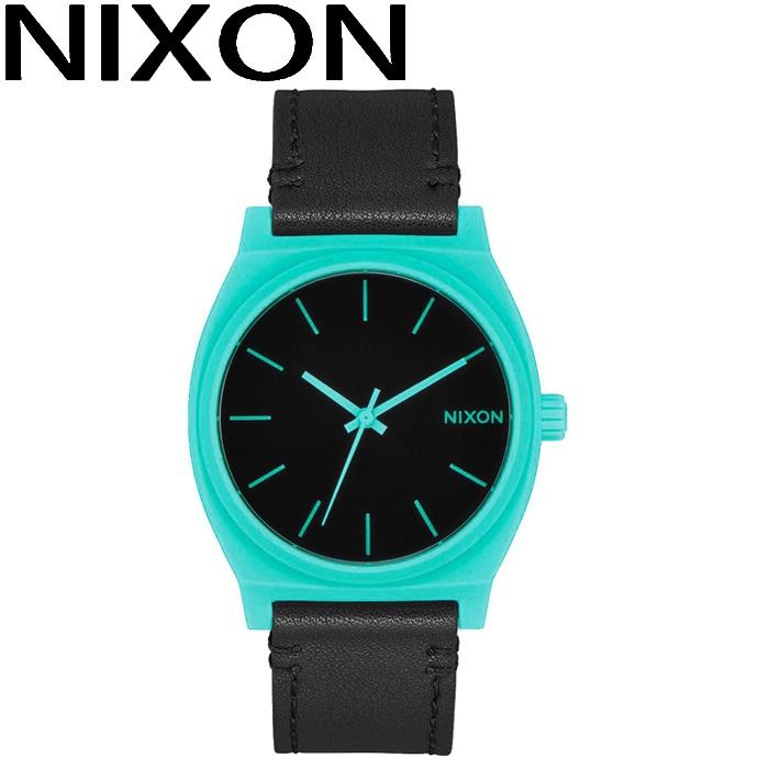 ニクソン NIXON タイムテラー時計 腕時計 メンズ レディース ユニセックスグリーン ブラック レザー A045-2620