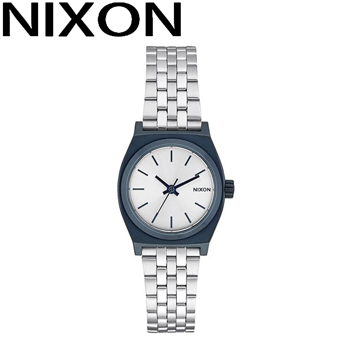 ニクソン NIXON スモールタイムテラー時計 腕時計 レディースネイビー シルバー A399-1849
