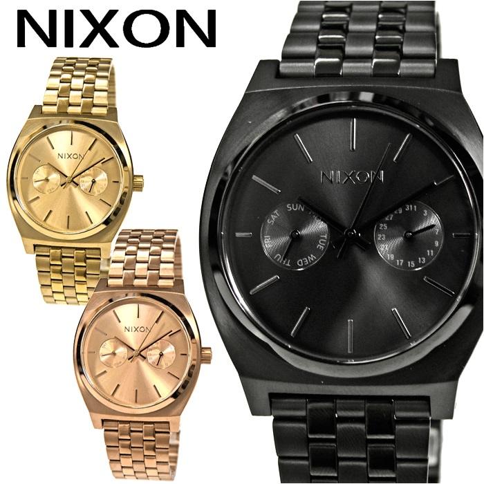 【クリアランス】NIXON ニクソン レディース 時計【A922001 ブラック】【A922502 ゴールド】【A922897 ローズゴールド】TIME TELLER DELUXE(タイムテラー デラックス)