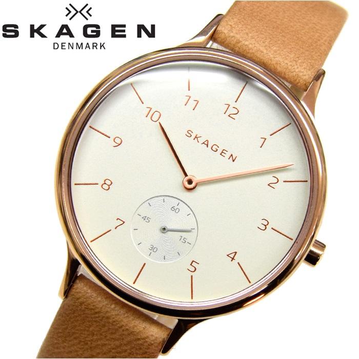 スカーゲン SKAGEN SKW2405時計 腕時計 レディースレザー ピンクゴールド ライトブラウン【ID】