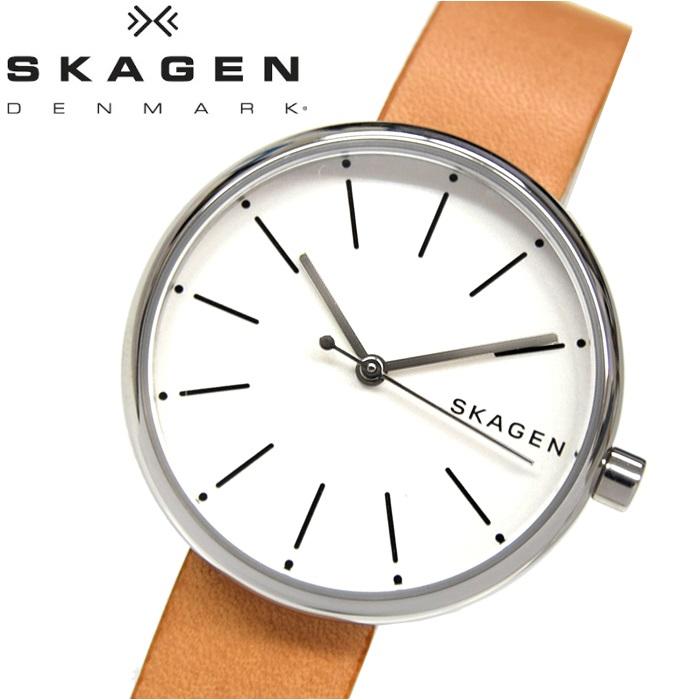 スカーゲン SKAGEN SKW2594時計 腕時計 レディースブラウン ホワイト レザー【ID】