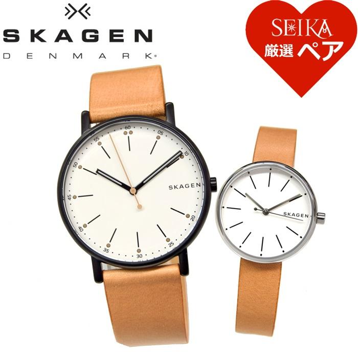 【ペアウォッチ】スカーゲン SKAGEN時計 腕時計 メンズ レディース SKW6352 SKW2594 【SEIKA厳選ペア】