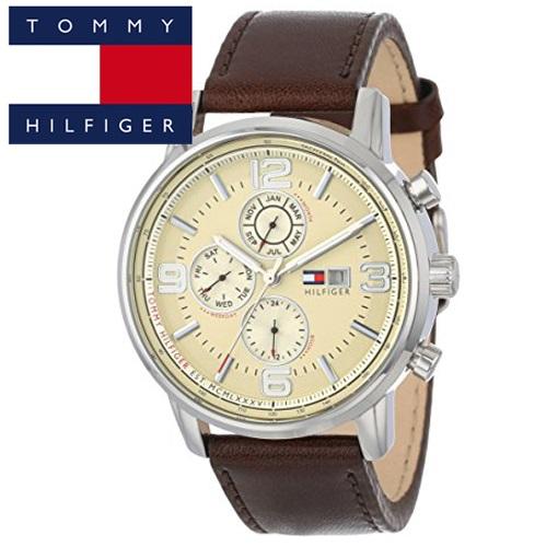 【56】 TOMMY HILFIGER トミーヒルフィガー メンズ 時計 【1710337】ブラウン レザー