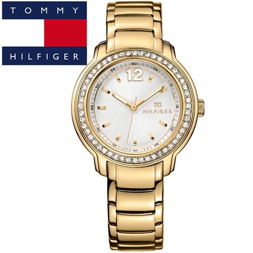 【74】TOMMY HILFIGER トミーヒルフィガーレディース 腕時計【1781467】ゴールド クリスタル