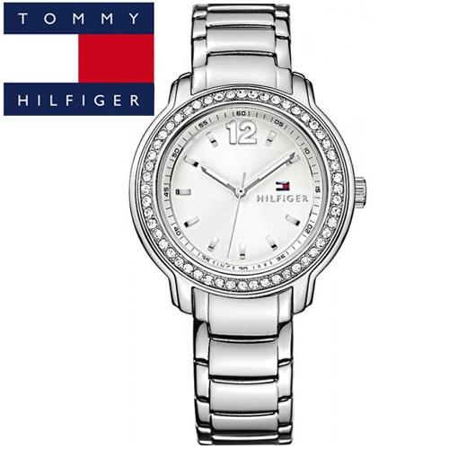 【75】TOMMY HILFIGER トミーヒルフィガーレディース 腕時計【1781469】シルバー クリスタル