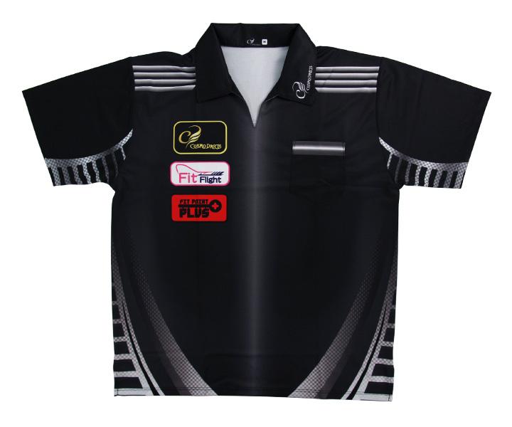 【送料無料】ダーツ アパレル【コスモダーツ】レプリカダーツシャツ CODE METALタイプ S
