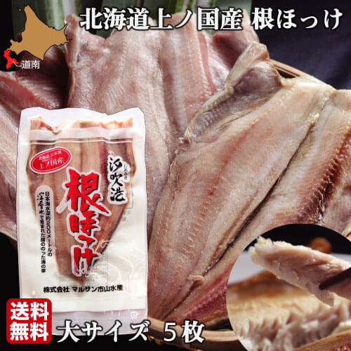 日本海水深約200メートルの深層水で育まれた脂ののった海の幸 ほっけ 北海道 開き 大サイズ 5尾 魚 ショップ 生冷凍 通販 ホッケ 送料無料 国産 販売期間 限定のお得なタイムセール 根ほっけ 干物ではなく生を急速冷凍 上ノ国 肉厚 脂