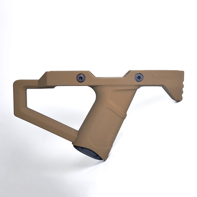 2021年7月新発売 Broptical オリジナル エルゴノミック フォアグリップ ver1 タクティカルグリップ 上質 TAN 初回限定 m16 20mmレイル対応 MP7A1 バッテリーケース付 m4 サバゲー