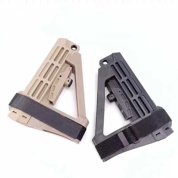 Broptical 配送員設置送料無料 SBA4 タイプ ストック レプリカ サバゲー ライフル モデルガン Pistol ピストル デザートアース ショップ DE Stabilizing Brace 部品 スタビブレース BK