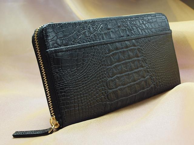 金運アップ・開運財布専門店 「財布屋」 日本の財布職人が作る開運の財布 黒のクロコ財布の王様