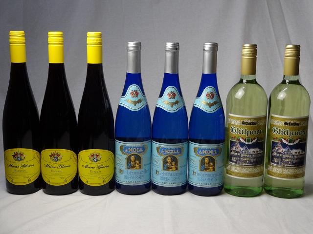 【最大2000円オフクーポン26日1:59迄】ドイツワイン8本セット ゲートロイトハウス グリューワイン(白ワイン)1000ml×2本 白ワイン750ml×3本 赤ワイン750ml×3本