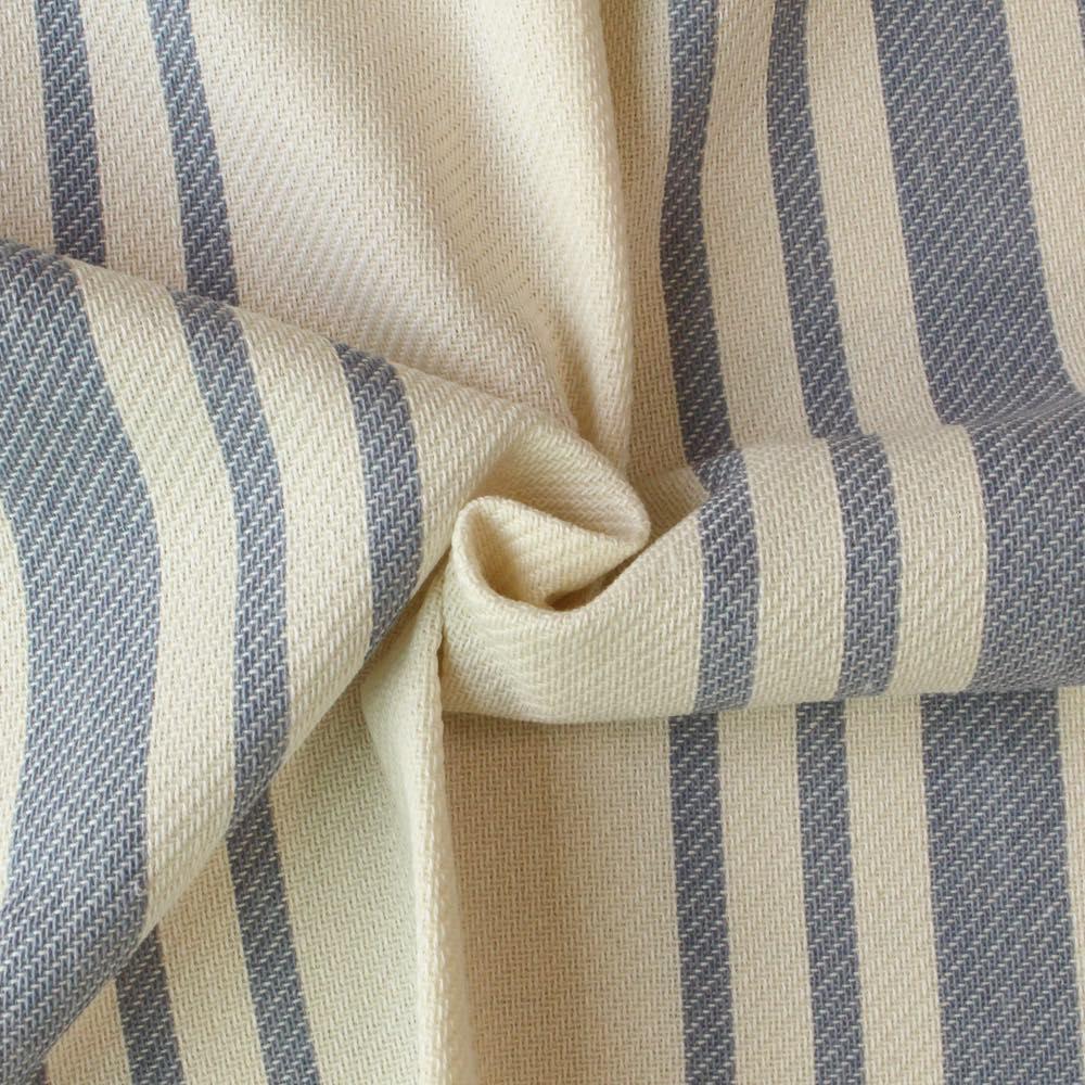 ストライプ柄の遮光カーテン【ブルー】Olive(オリーブ)- カジュアル・落ち着いた