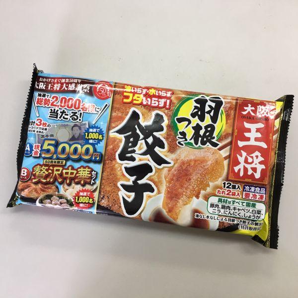具材は全て国産 大阪王将 購買 羽根つき餃子 ギョーザ 12個入 たれ2袋入 お買い得品 ぎょうざ