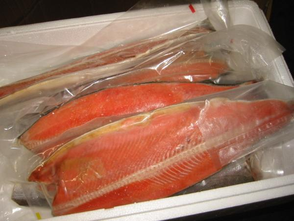 ロシア・アラスカ産 紅鮭フィーレ(甘塩)8kg