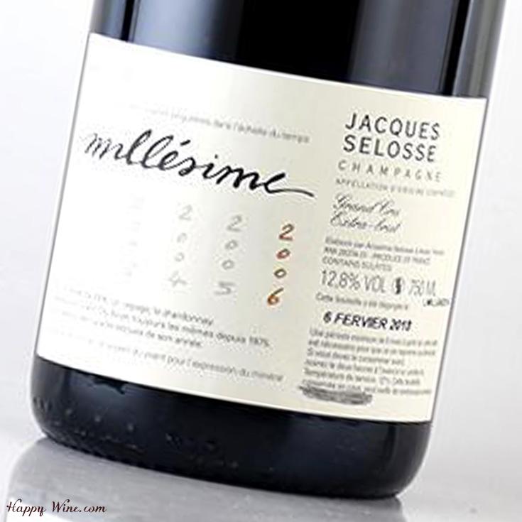 【お取り寄せ】ジャック・セロス ミレジム 2006(白.泡) 750ml