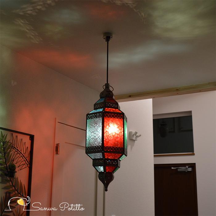 ペンダントライト ステンドグラスライト 天井照明 豪華 ムードライト 寝室照明 間接照明 照明 リビング 玄関 O18124 高さ60cm