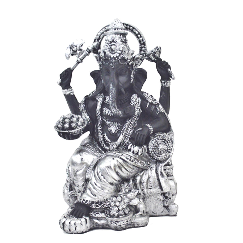 どんな願いも叶える最強ランクのガネーシャ神 インドの神様 ガネーシャの置物 ガネーシャ 置物 ガネーシャ像 夢を叶える象 金運アップ 開運 瞑想 商売繁盛 現世利益 セール 登場から人気沸騰 象の神様 銀 激安格安割引情報満載 高さ16.5cm ヒンドゥー教の神様 シルバー ゾウの神様 T18189 聖天 ブラック ガナパティ 歓喜天