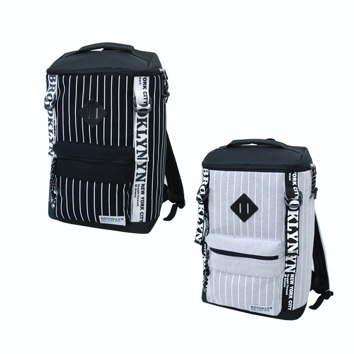 49bbbc31276e Because it is the design which is stripe sweat shirt square rucksack  backpack black rucksack Lady s ...