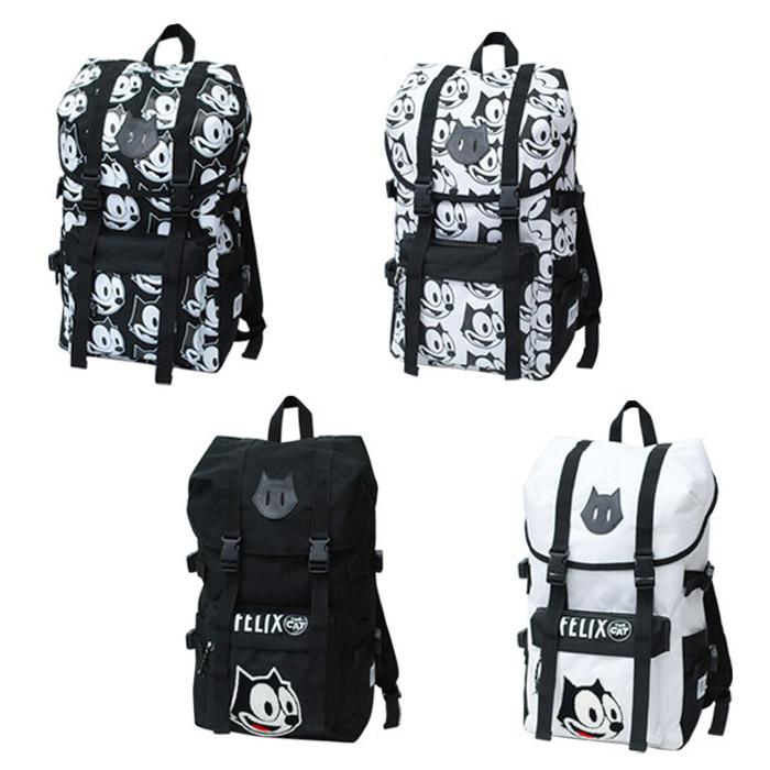 费利克斯 · 尼龙山背囊背包费利克斯猫的猫猫动漫句子刺绣图案女士男士中性旅行旅行礼物礼物礼物学龄前电源学校