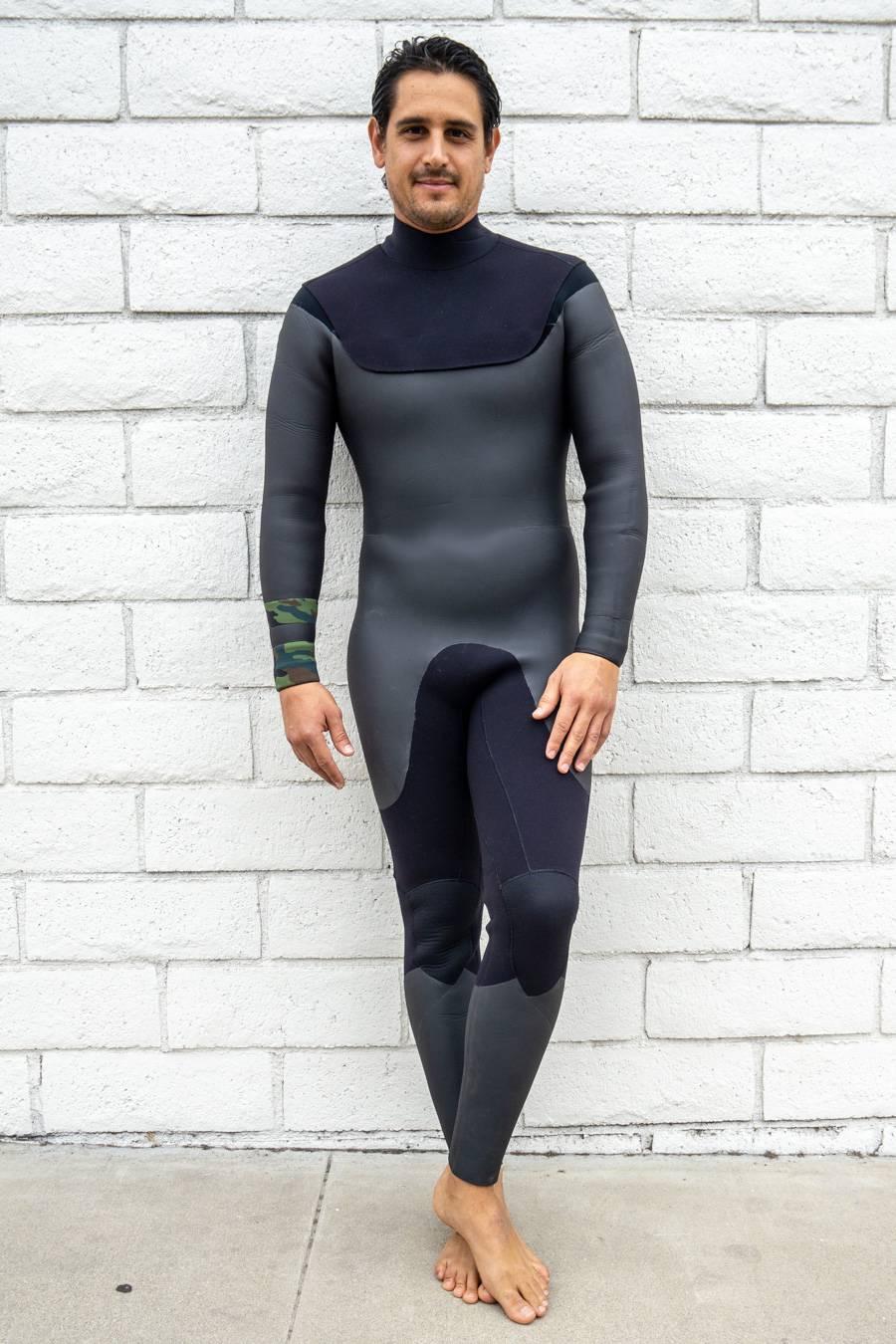 2018/19 ジップレス ノンジップ タイプ25mm (ボディ)×5mm(袖) メンズ セミドライ ウエットスーツポイントカラー1色無料ウェットスーツ 男性用 オーダー サーフィン