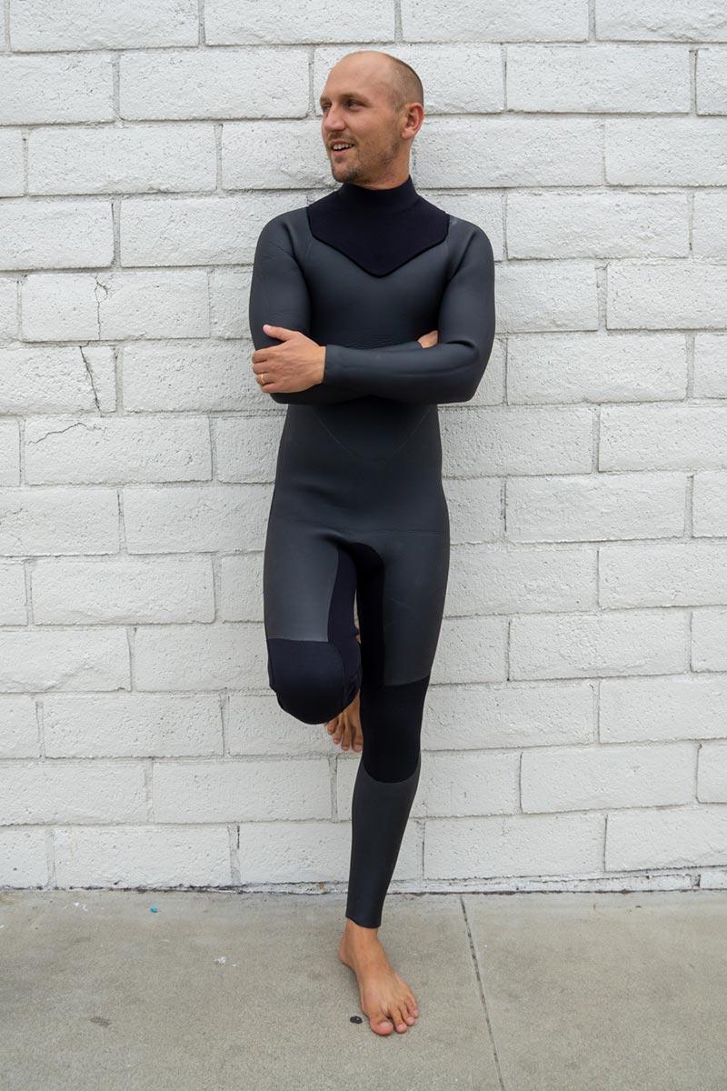 2018/19 ジップレス ノンジップ タイプ15mm (ボディ)×5mm(袖) メンズセミドライ ウエットスーツポイントカラー1色無料ウェットスーツ 男性用 オーダー サーフィン