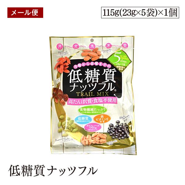 \発売記念価格/【メール便】低糖質ナッツフル 115g 食べ切り小分けパック 低糖質 高たんぱく 食塩不使用 食物繊維たっぷり