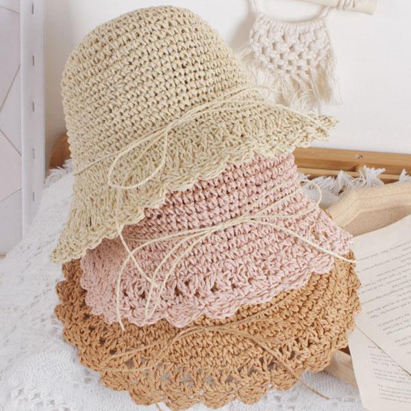 ベビー麦わら帽子 人気ブランド多数対象 ストローハット 赤ちゃん リンクコーデ 韓国子供服 双子 おそろい 卸直営 女の子