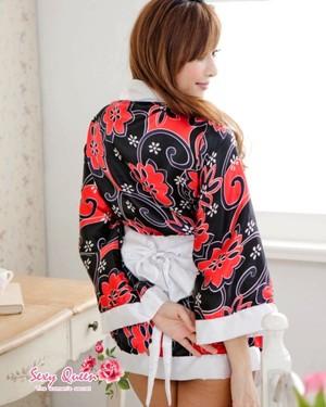 和服迷你浴衣角色扮演和服和服迷你浴衣腰带长袍礼服服装性感重磅炸弹日本模式正式检测事件的同伴骑士小姐妇女万圣节服装