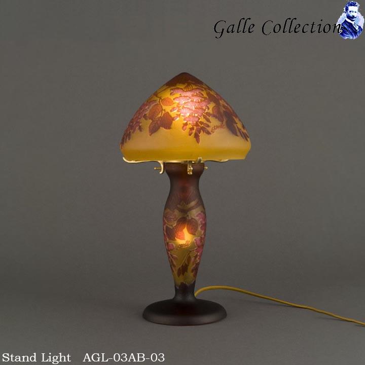【レビューでクーポンプレゼント】ガレ・コレクション AGL-03AB-03 ガレ レプリカ 2灯 スタンド ライト テーブルライト 置型照明 高級照明器具 リビング用 玄関用 寝室用 真鍮製 アンティーク ブロンズ 白熱電球 付属 LED 対応