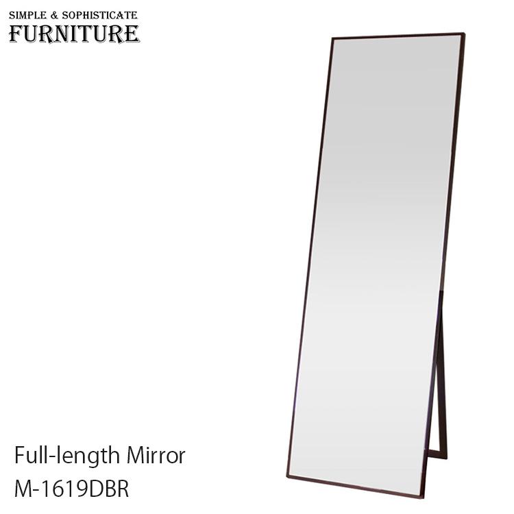 【全品5%OFFクーポン配布中!8/2(日)20:00~8/9(日)1:59まで】M-1619DBR Tight Style Mirror タイト スタイル ミラー ワイド おしゃれ 全身鏡 ダークブラウン シンプル 可愛い かっこいい ナチュラル 北欧 インテリア 家具 収納