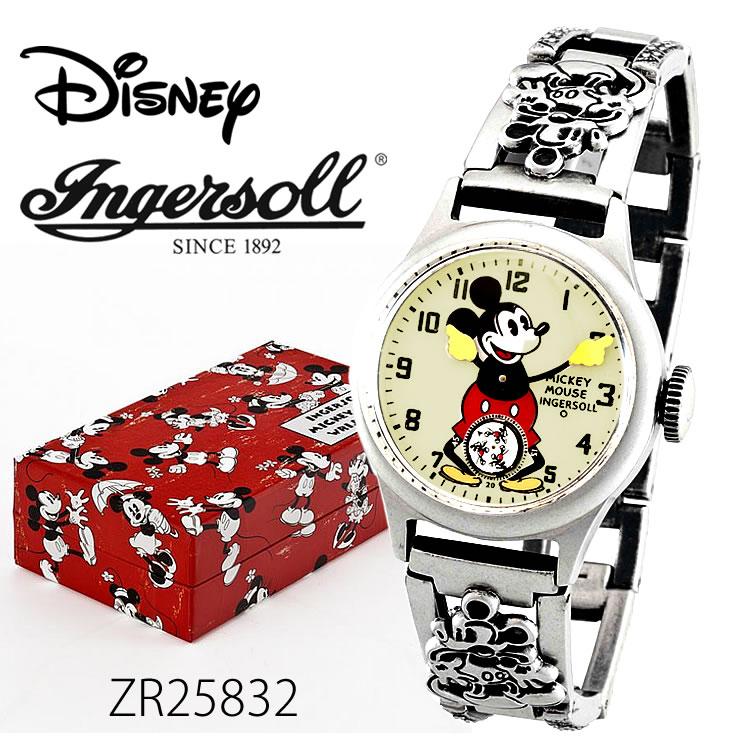 【全品5%OFFクーポン配布中!6/20(土)0:00~6/24(水)23:59まで】Ingersoll Disney 30'sコレクション(ミッキーマウス手巻き機械式ウォッチ)ZR25832 時計 プレゼント ギフト 贈り物 腕時計 おしゃれ ウォッチ