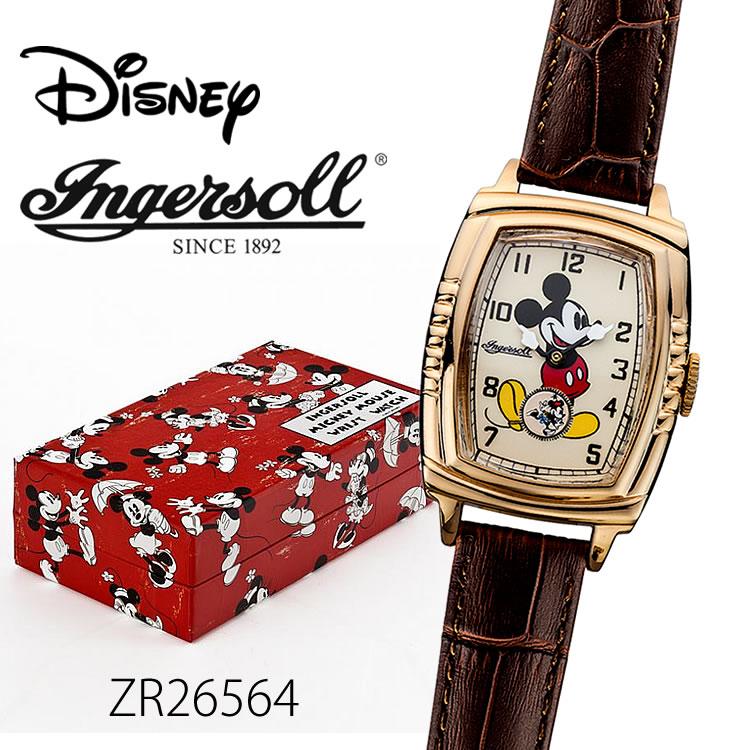 【全品5%OFFクーポン配布中!6/20(土)0:00~6/24(水)23:59まで】Ingersoll Disney 30'sコレクション(ミッキーマウス手巻き機械式ウォッチ)ZR26564 時計 プレゼント ギフト 贈り物 腕時計 おしゃれ ウォッチ