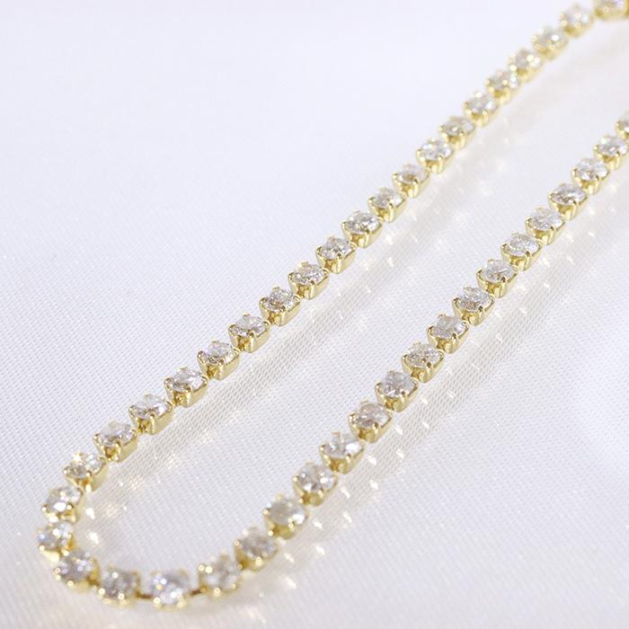 K18・イエローゴールド・2.00ct・テニスブレスレット・ラインブレスレット・ダイヤモンド・18金・ジュエリー・アクセサリー・レディース・ブレスレット・ブレス・ゴールド・送料無料・品質保証書・プレゼント