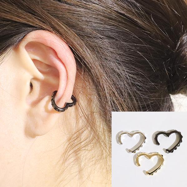 【あす楽】イヤカフ イヤーカフ k10 10金 YG WG イエローゴールド ホワイトゴールド 片耳 ハート heart ファッション アクセサリー ジュエリー レディース オシャレ EAR CUFF プレゼント・送料無料・品質保証書