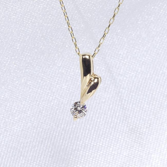 「あす楽対応」1粒 ダイヤモンド ファッション ジュエリー アクセサリー レディース 4月誕生石 ペンダント ネックレス K18 18金 ゴールド「4P0112」【送料無料】 *