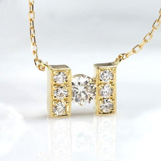 ファッション・ジュエリー・アクセサリー・レディース・ネックレス・ペンダント・ゴールド・ホワイトゴールド・H・H型・イエローゴールド・ダイヤモンド・ダイヤ・4月誕生石・送料無料・品質保証書・プレゼント