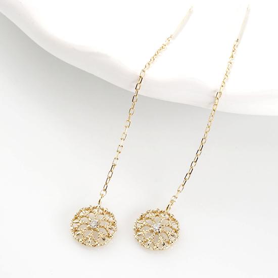 K18YG WG ファッション・ジュエリー・アクセサリー・レディース・ピアス・ゴールド・ホワイトゴールド・イエローゴールド・ダイヤモンドピアス・送料無料・品質保証書・プレゼント *