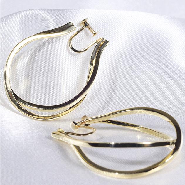 K10 YG 地金 イヤリング イエローゴールド 10金 ファッション・ジュエリー・アクセサリー・レディース 送料無料・品質保証書・プレゼント