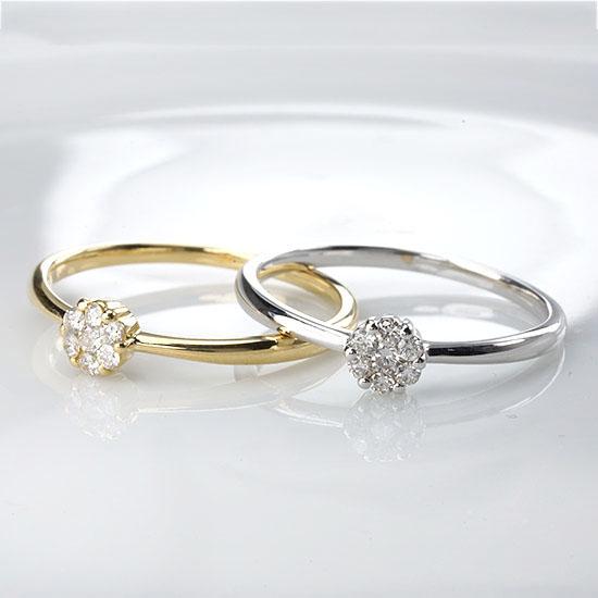 ファッション・ジュエリー・アクセサリー・レディース・指輪・リング・K18・ホワイトゴールド・イエローゴールド・ダイヤモンド・ダイPTZwOkXiu